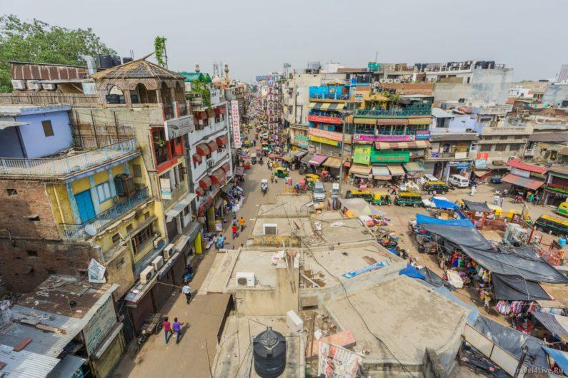 Вид на главную туристическую улицу Дели