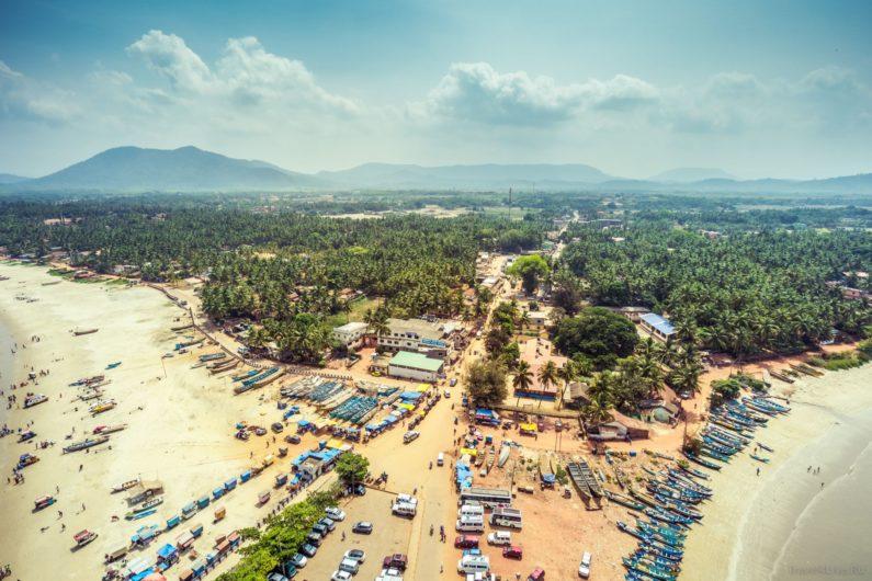 Вид на город Мурудешвар