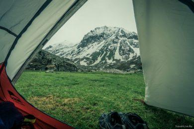 Лагери недалеко от Сери, 3800 метров