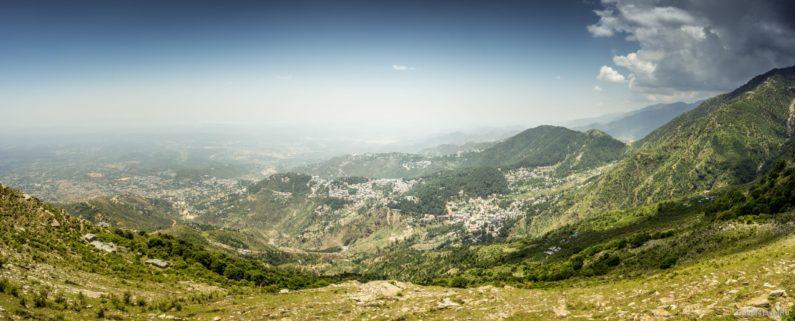 Панорама по пути на перевал Триунд