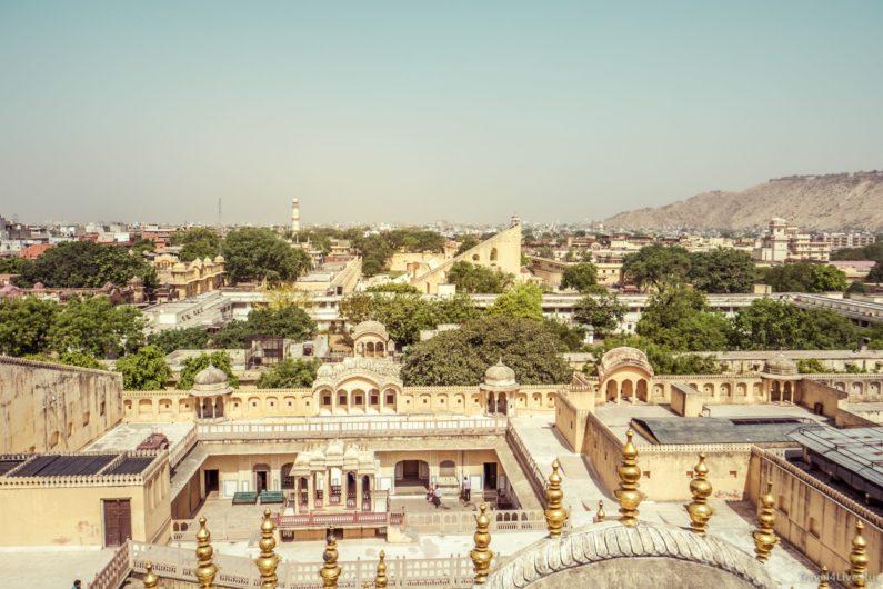 Вид на город с городского дворца Удайпура.