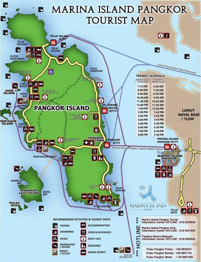 Карта острова Пангкор