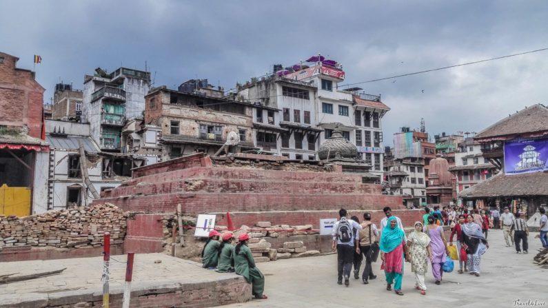 Катманду, разрушения на площади Дурбар