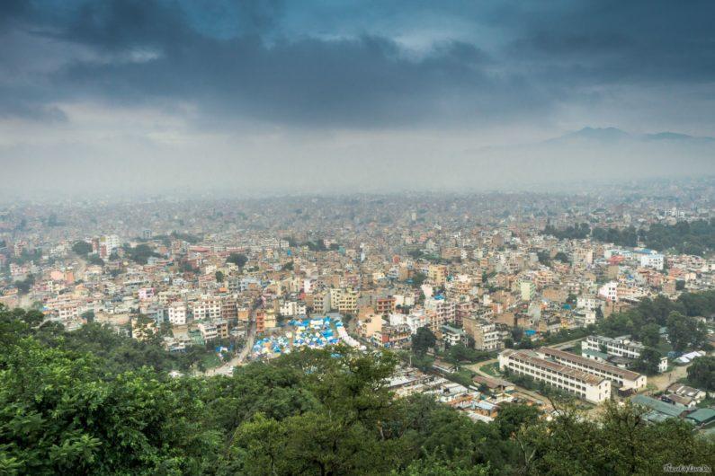 Катманду, вид со смотровой площадки храма Сваямбунатх