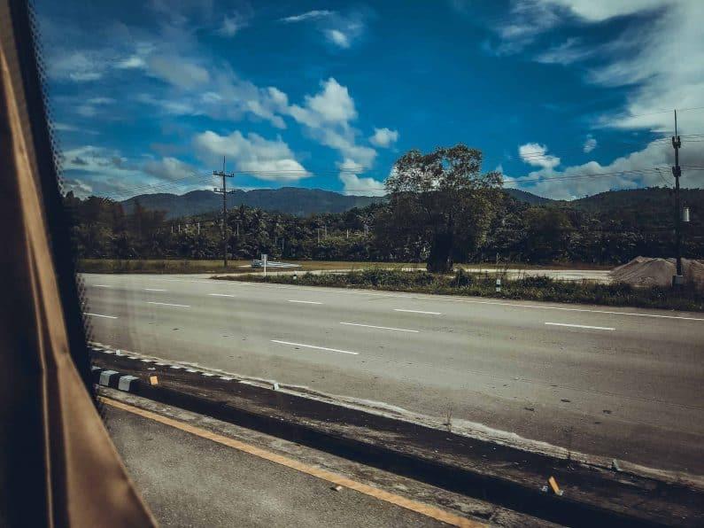Виза Ран Пхукет - Ранонг. Вид из Автобуса
