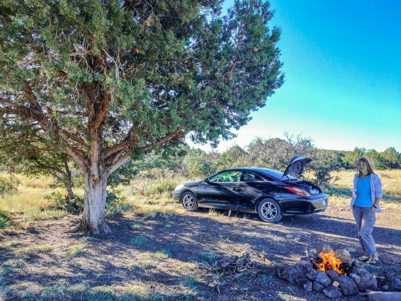 Кемпинг в National Forest у Гранд Каньона