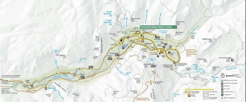 Йосемите - карта деревни